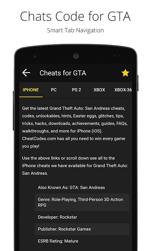 Cheat codes for GTA for Android - APK Download