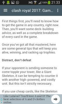 Cheats For Clash Royale 2017 screenshot 9