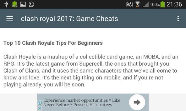 Cheats For Clash Royale 2017 screenshot 12