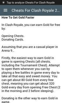 Cheats For Clash Royale 2017 screenshot 2