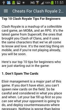 Cheats For Clash Royale 2017 screenshot 3