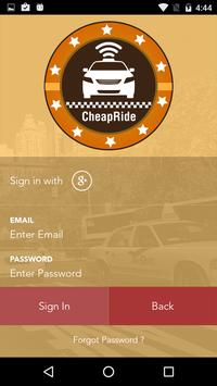 CheapRide Driver apk screenshot