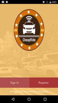 CheapRide poster