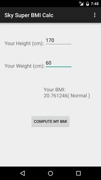 Sky BMI Calculator apk screenshot