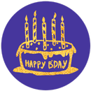 PG Bling Party - B Day Sticker Pack from PhotoGrid APK