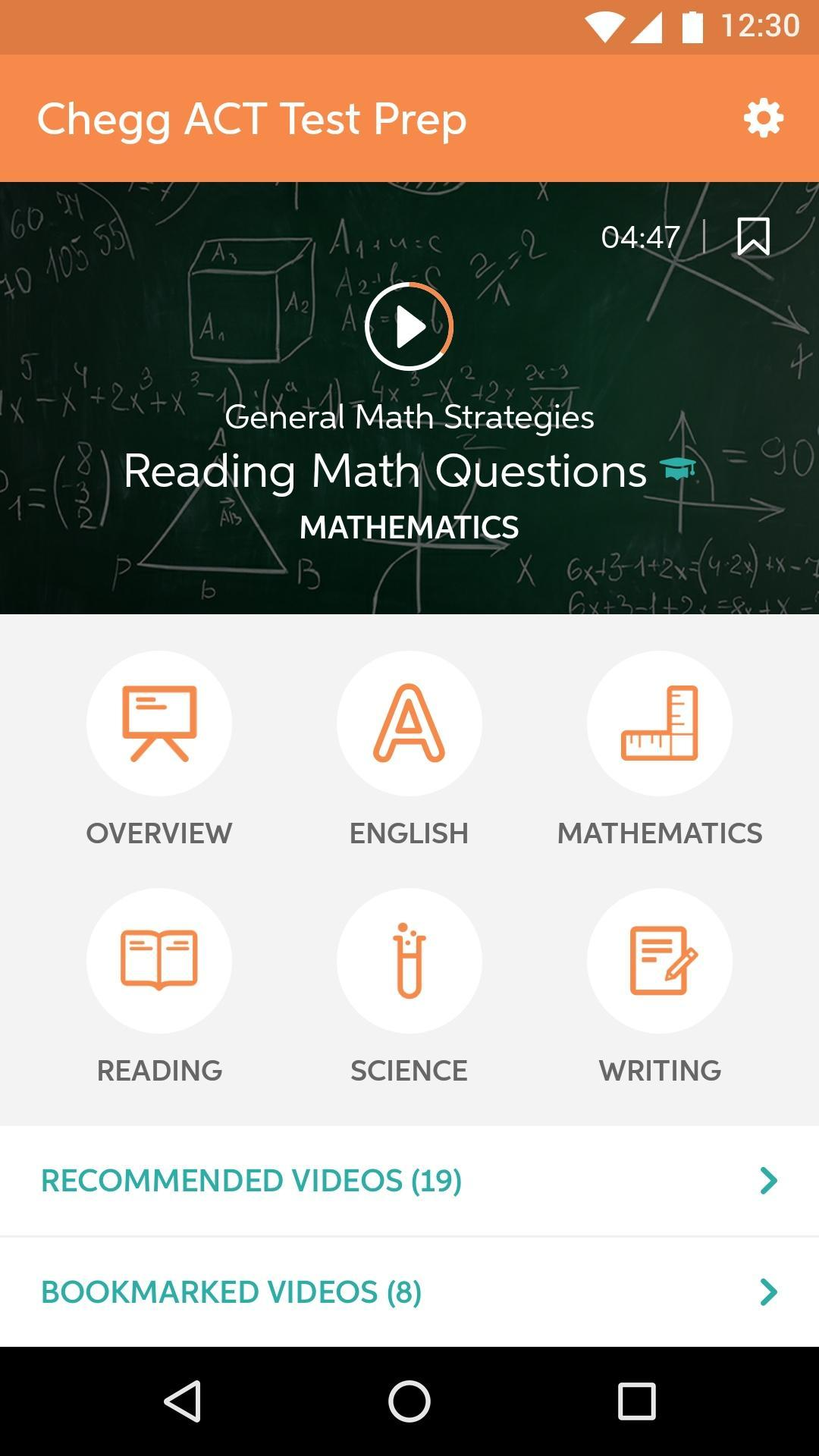 Chegg ACT Test Prep for Android - APK Download
