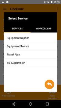 ChekOne Service App apk screenshot