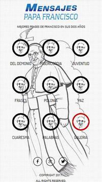 Mensajes del Papa Francisco poster