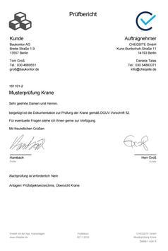 Krananlagen - Prüfung und Inspektion apk screenshot