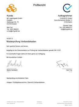 Verbandskästen - Prüfung und Inspektion screenshot 22