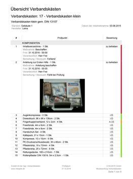 Verbandskästen - Prüfung und Inspektion screenshot 23