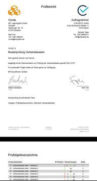 Verbandskästen - Prüfung und Inspektion screenshot 6
