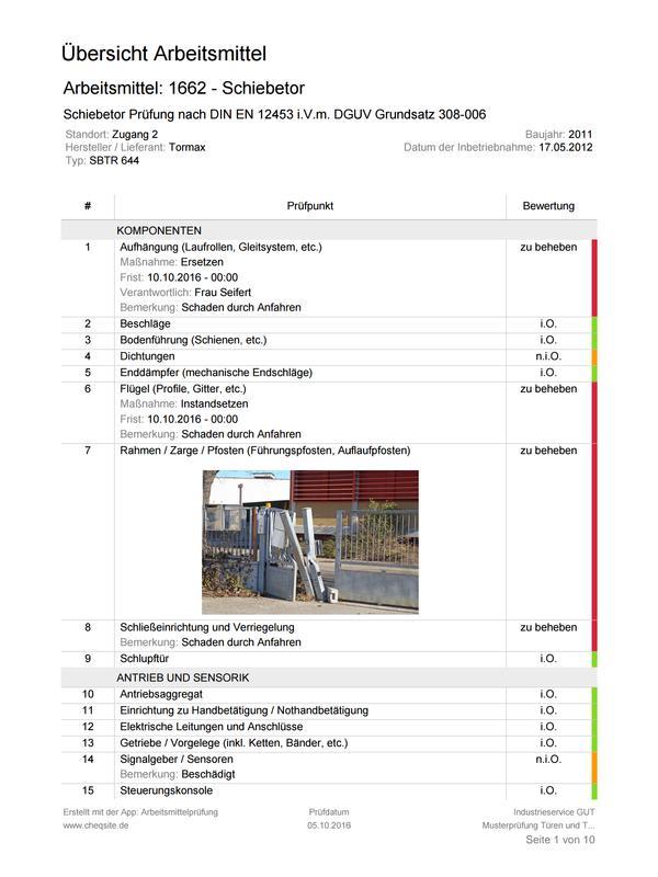 Arbeitsmittel Prüfung und Inspektion for Android - APK Download
