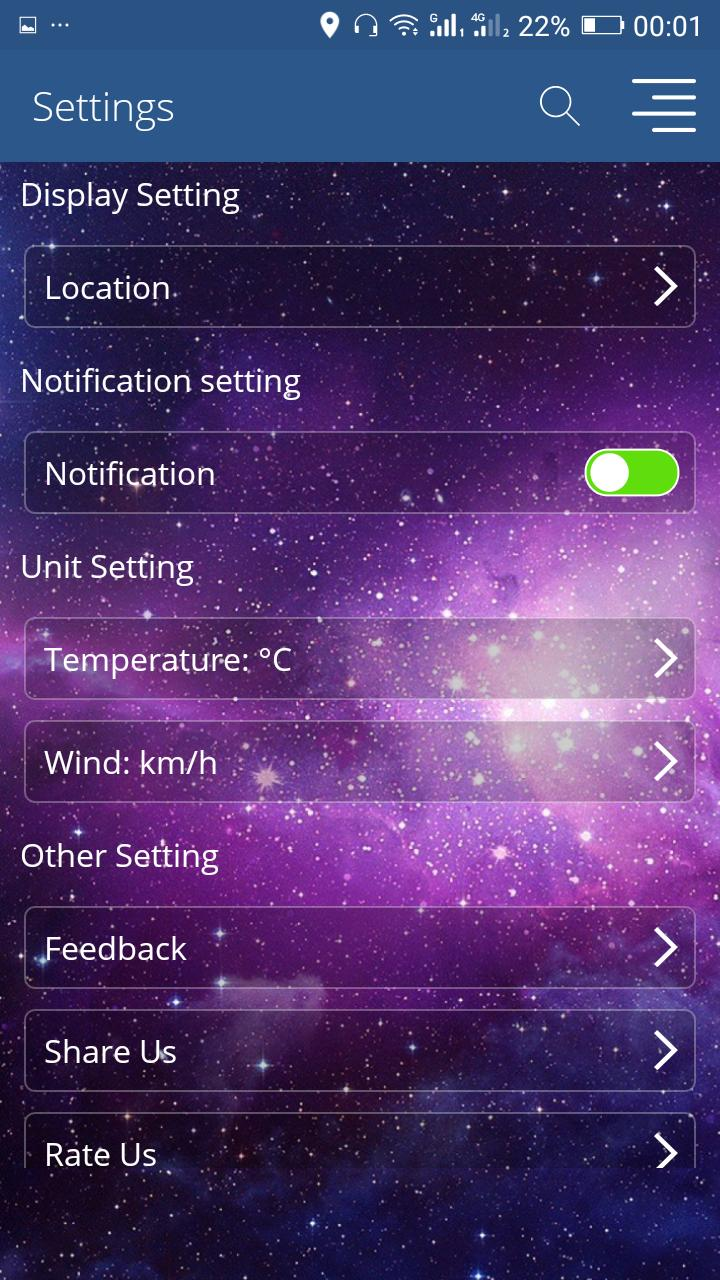 Galaxy s9 Weather -weather today-météo 2018 pro for Android