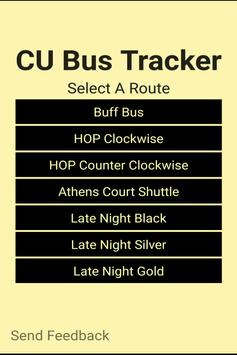 CU Bus Tracker poster