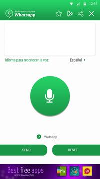 Audio en Texto para WhatsApp captura de pantalla 1