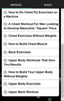 Chest And Back Upper Workout Apk Screenshot