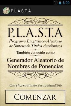 P.L.A.S.T.A poster