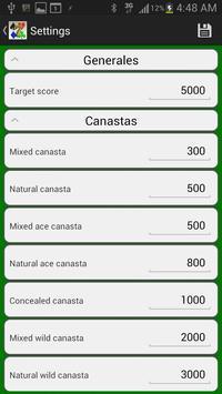 Canasta Score apk screenshot