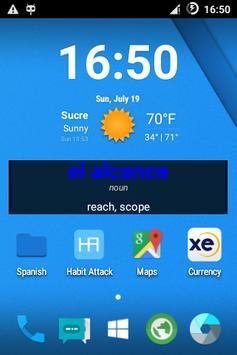 Spanish Word of the Day Widget apk screenshot