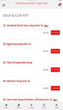 Ming Chinese & Sushi screenshot 2