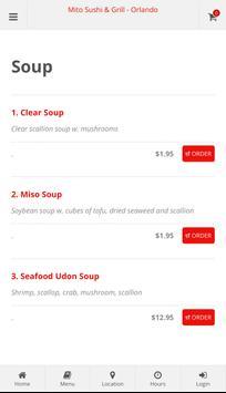 Mito Sushi & Grill Orlando Online Ordering screenshot 2