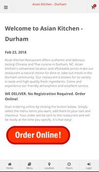 Asian Kitchen Durham Online Ordering poster