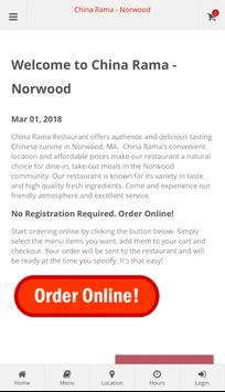 China Rama Norwood Online Ordering poster
