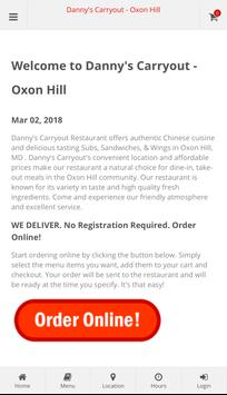 Danny's Carryout Oxon Hill Online Ordering poster