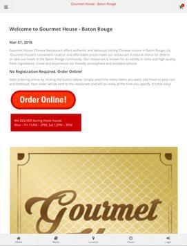 Gourmet House Baton Rouge Online Ordering screenshot 3