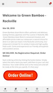 Green Bamboo Rockville Online Ordering poster