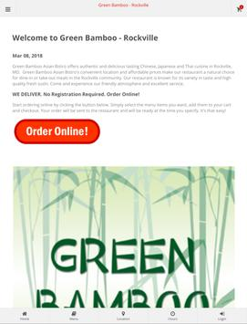 Green Bamboo Rockville Online Ordering screenshot 3