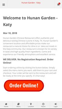 Hunan Garden Katy Online Ordering poster