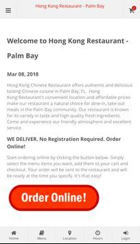 Hong Kong Restaurant Palm Bay Online Ordering poster