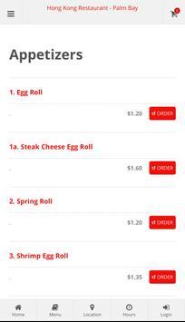 Hong Kong Restaurant Palm Bay Online Ordering screenshot 1