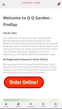 q q garden findlay online ordering poster - Qq Garden