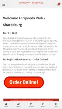 Speedy Wok Sharpsburg Online Ordering poster