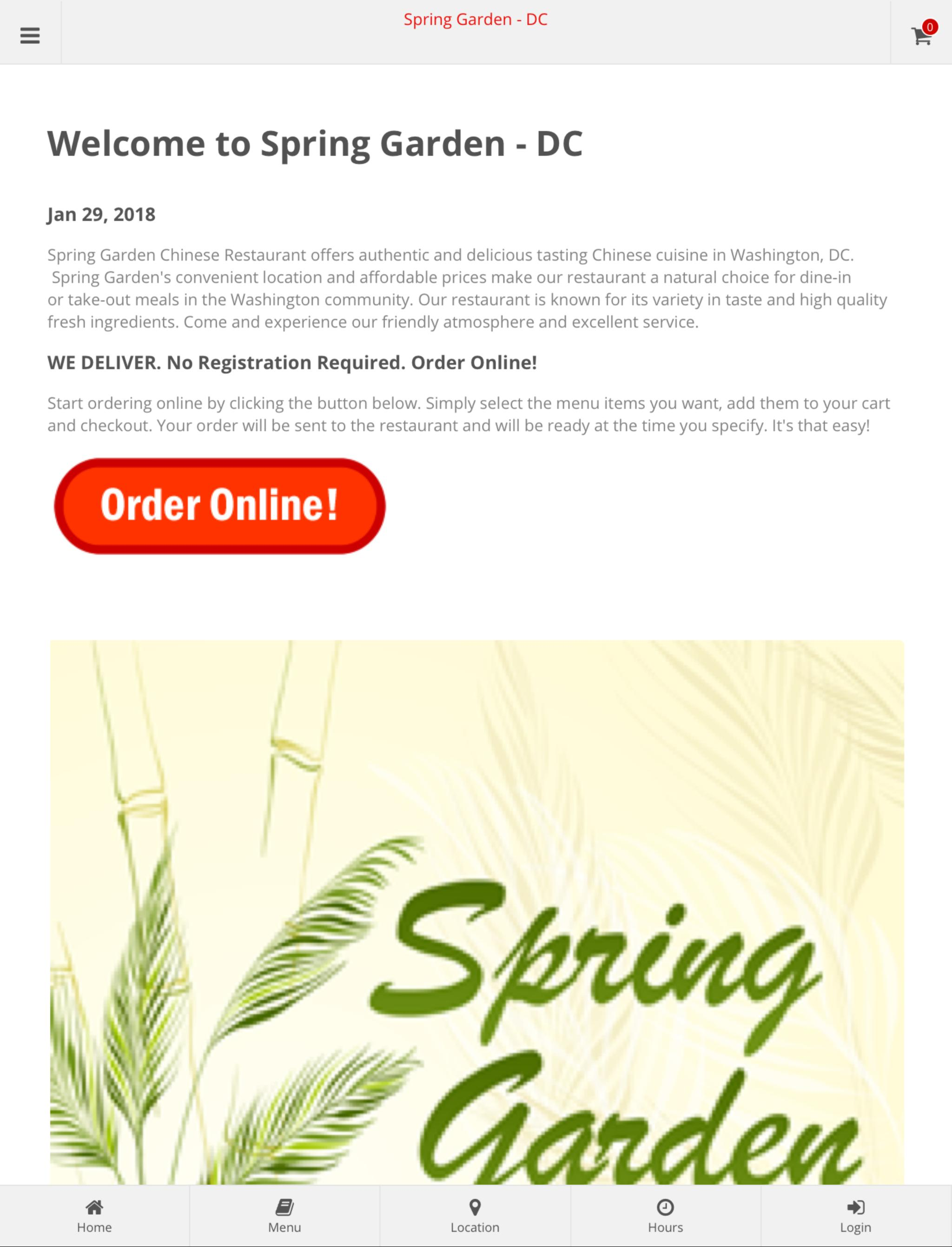 Spring Garden Dc Online Ordering For Android Apk Download