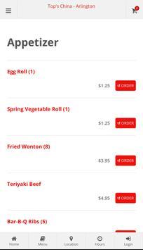 Top's China Arlington Online Ordering screenshot 1