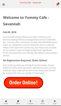 Yummy Cafe Savannah Online Ordering poster
