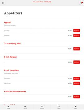 Zen Asian Diner Pittsburgh Online Ordering screenshot 7