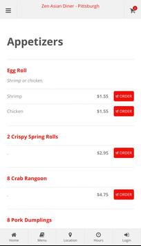 Zen Asian Diner Pittsburgh Online Ordering screenshot 1