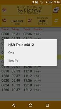 Chinsoft THSR Timetable screenshot 1