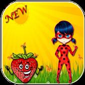 Hero ladybug chibi run free icon