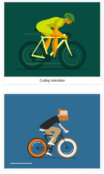 Cycling Animation poster