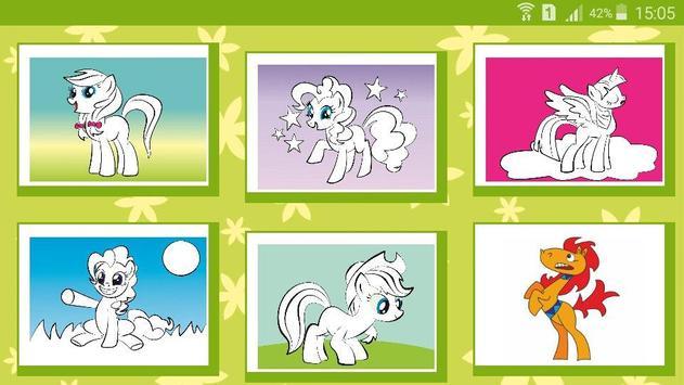 Раскраска мультик Мой Пони screenshot 1