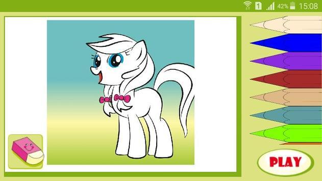 Раскраска мультик Мой Пони screenshot 2