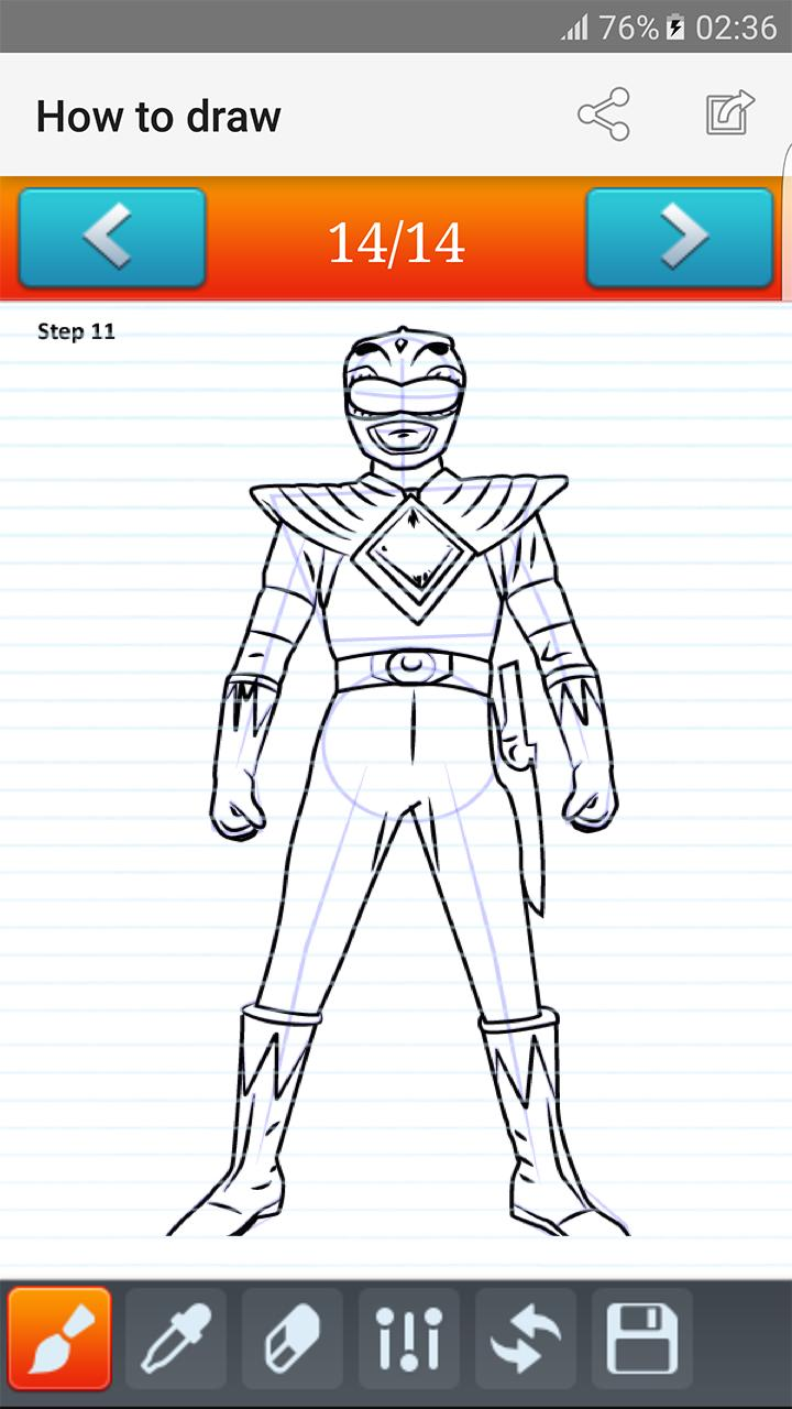 How To Draw Power Rangers For Android Apk Download