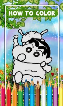 Learn Coloring Shinchan For Kids apk screenshot
