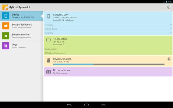 MyDroid System Info apk screenshot